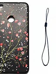 cheap -Case For Huawei P9 Huawei P9 Lite Huawei P8 Huawei Plating Pattern Back Cover Flower Soft TPU for P10 Plus P10 Lite P10 Huawei P9 Lite