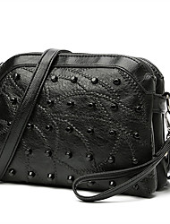 cheap -Women Bags Other Leather Type Crossbody Bag Beading for Casual All Seasons Black
