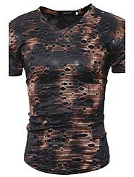 Tee-shirt Homme,Couleur Pleine camouflage Décontracté / Quotidien Plage Soirée / Cocktail Sexy Chic de Rue Punk & GothiqueToutes les