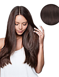 cheap -Clip In Human Hair Extensions Human Hair Straight Daily