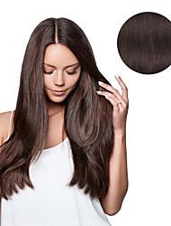 abordables -A Clipser Extensions de cheveux humains Cheveux humains Droit Quotidien