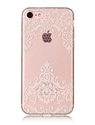 Per iPhone X iPhone 8 Custodie cover IMD Transparente Fantasia/disegno Custodia posteriore Custodia La stampa in pizzo Morbido TPU per