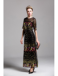 cheap -Women's Sheath Dress - Embroidered, Sequins Maxi