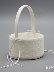 "Flower Basket Satin Lace 9 7/8"" (25 cm) Rhinestones Lace Bowknot 1"