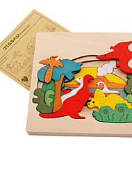 Недорогие -Muwanzi Пазлы Деревянные пазлы Динозавр Животные Дерево Мультяшная тематика