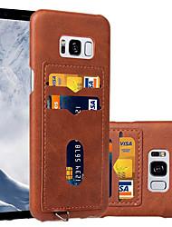 preiswerte -Hülle Für Samsung Galaxy S8 Plus S8 Kreditkartenfächer Rückseite Volltonfarbe Hart PU-Leder für S8 Plus S8
