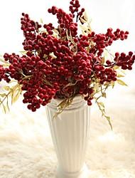 1 Branch Styrofoam Plastic Plants Tabletop Flower Artificial Flowers