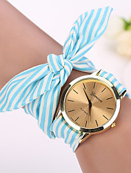 cheap -2015 newGeneva Fashion Watches Women Strap Dress Watch Wristwatch Girl Bow Cloth Strap Cool Watches Unique Watches