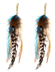 cheap -lureme® Drop Earrings Jewelry Animal Design Geometric Movie Jewelry Fashion Multi-ways Wear Africa Feather Alloy Geometric Jewelry ForParty