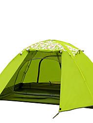 Недорогие -FLYTOP 3-4 человека Световой тент Двойная Палатка Однокомнатная Семейные палатки Водонепроницаемость С защитой от ветра Ультрафиолетовая