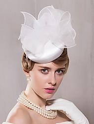 Organza Cetim Chapéus Headpiece Casamento Estilo elegante feminino