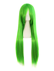 cheap -Green Ombre Color Wig Synthetic Wig Red Color Straight Hair Cosplay Synthetic Wig