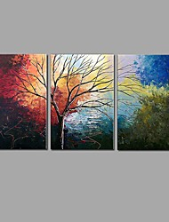 cheap -Hand-Painted Landscape Horizontal, Pastoral European Style Canvas Oil Painting Home Decoration Three Panels