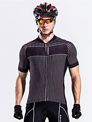 cheap -WOSAWE Cycling Jersey Unisex Short Sleeves Bike Sweatshirt Jersey Top Bike Wear Breathable Back Pocket Sweat-wicking Classic Exercise &