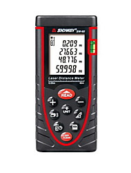 Sndway SW-60 Handheld Digital 60m 196ft Laser Distance Measurer with Distance & Angle Measurement(1.5V AAA Batteries)