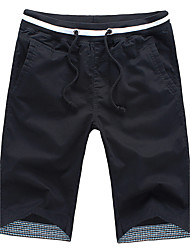 cheap -Men's Mid Rise Straight Shorts Pants, Chic & Modern Solid Summer