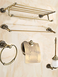 Jogo de Acessórios para Banheiro / Latão Antiquado Antigo