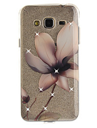 cheap -For Samsung Galaxy J2 J3 J5 (2016) Prime Case Cover Magnolia Flower Pattern HD Painted Drill TPU Material IMD Process High Penetration Phone Case