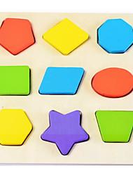 Недорогие -Конструкторы Игры с последовательностью Деревянные игрушки Игрушки Квадратный Круглый Звезда Детские 1 Куски