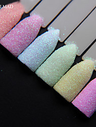 cheap -6colors nailmad pastel nail glitter set nail art glitter powder dust ultra fine glitters mix