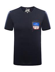 economico -Per uomo T-shirt da escursione Esterno Traspirante T-shirt Top Pesca