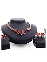 Women's Jewelry Set Rhinestone Fashion Vintage Personalized Euramerican Statement Jewelry Synthetic Gemstones Rhinestone Gold Plated Alloy