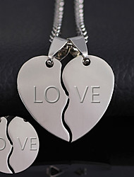 cheap -The thickness of 2mm can be processed 316 heart-shaped titanium accessories Korean new couple combo stainless steel pendant