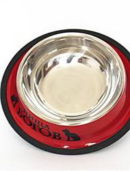 Chat Chien Bols & Bouteilles d'eau Mangeoires Animaux de Compagnie Bols & alimentation Etanche Réfléchissant Portable Rouge Bleu