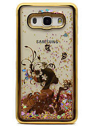 cheap -For Samsung Galaxy J5 (2016) J3 J3 (2016) Case Cover Plating Flowing Liquid Pattern Back Cover Case Sexy Lady Glitter Shine Soft TPU
