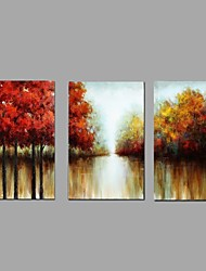 Knife Abstract Scenery Picture Canvas Handpainted Oil Painting 3 Piece/set Wall Art With Stretched Frame Ready to Hang