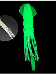 "4 pc Esche morbide Esca Octopus Shad Esche morbide Bianco Luminoso/Fluorescente g/Oncia,110 mm/4-1/3"" pollice,SiliconePesca a mulinello"