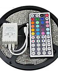 Z®ZDM Waterproof 5M 24W 300x2835RGB SMD  Light LED Strip Light 44Key IR Remote Controller Kit (DC12V)