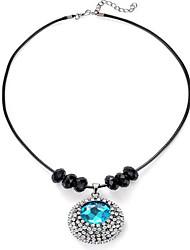 Mulheres Colares com Pendentes imitação Sapphire Forma Redonda Estilo simples Azul Claro Jóias Para Diário Casual 1 pç