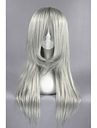 cheap -Final Fantasy VII Advent Children-Kadaj Siver Gray Anime 26inch Cosplay Wigs CS-162F
