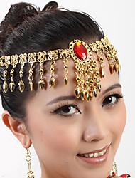 abordables -Danza del Vientre Auriculares Con Micrófono Mujer Representación Metal 1 Pieza Tocados
