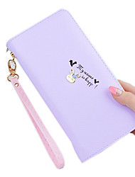 cheap -Women's Bags PU Polyester Zipper Wallet for Shopping Casual Sports Formal Office & Career Outdoor All Seasons Gold Black Purple Deep