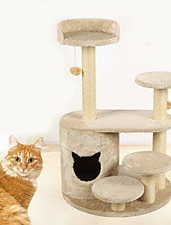 Cat Toy Pet Toys Interactive Scratch Pad Durable Wood Plush For Pets