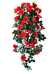 1PC 19 heads flower Branch Polyester Plastic Others Tabletop Flower Artificial Flowers