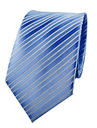 cheap -Men's Polyester Neck Tie,Party Work Casual Jacquard All Seasons Light Blue