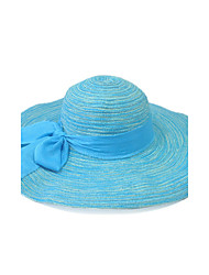 Summer Straw Hat Cap Beautiful Girl&lady Round Wide Brim Hawaii Folding Soft Sun Hat Casual Foldable Brimmed Beach Hats For Women