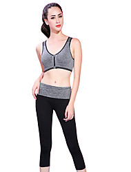 cheap -Yoga Sports Bra Breathable Soft Comfortable Stretchy Sports Wear Yoga Exercise & Fitness Women's Fruit Green Violet Blue Gray