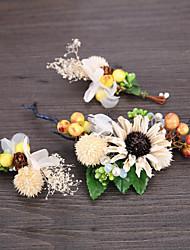 abordables -Cestería / Lino / Brillante Diademas / Flores / Pin de pelo con 1 Boda / Ocasión especial / Casual Celada