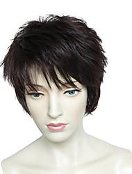 Capless Short BOB Wig Natural Wavy Synthetic Fiber Wig For Women
