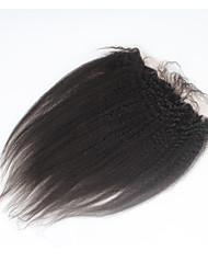 Недорогие -ELVA HAIR Бразильские волосы 4X13 Закрытие Прямой / Естественные прямые Бесплатный Часть / Средняя часть / 3 Часть Швейцарское кружево Натуральные волосы