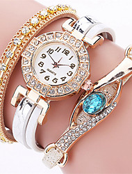 cheap -New Brand Blue Eye Gemstone Watches Casual Women Bracelet Watch Female Multilayer Full Crystal Leather Wrist Watches