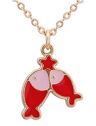 Femme Collier court /Ras-du-cou Pendentif de collier Colliers chaînes Bijoux Forme d'Animal Alliage Basique Animal Stras Naturel Amitié
