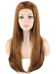 High Quality Synthetic Wig Lace Front Silky Straight Hair Heat Resistant Fiber Hair Wig for Woman