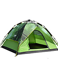 DesertFox® 3-4 persons Tent Double Camping Tent One Room Automatic Tent Waterproof Rain-Proof for Camping 2000-3000 mm Oxford CM