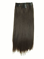 cheap -False Hair Extension 11 Clips Clip in Hair Extensions Synthetic Hair Apply Hairpiece 22 Long Straight Hairpieces D1020  4#