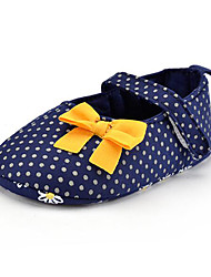 cheap -Children's Baby Shoes Fabric Summer Fall First Walkers Loafers & Slip-Ons Bowknot Polka Dot for Casual Party & Evening Dress Blue